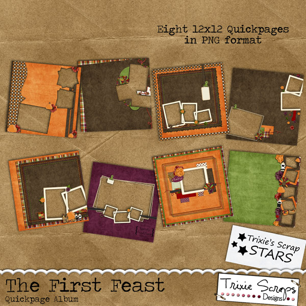 The First Feast Digital Scrapbooking Kit Holidays Thanksgiving The ...