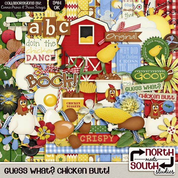 Guess What? Chicken Butt! Digital Scrapbooking Collab Kiit Farm Picnic