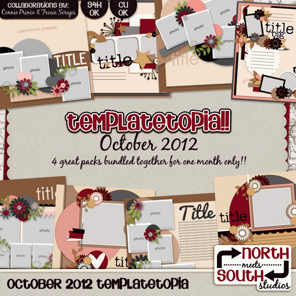 October 2012 Templatetopia Digital Scrapbooking Templates
