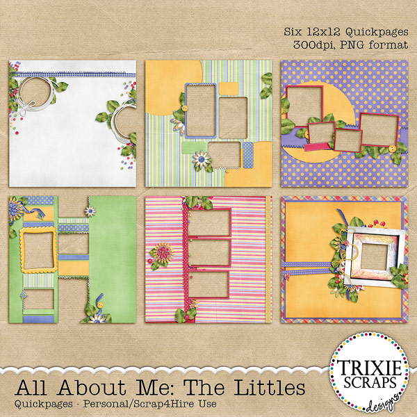 All About Me: The Littles Digital Scrapbooking Quickpages