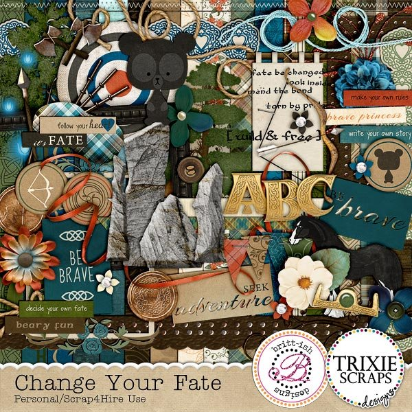 Change Your Fate Digital Scrapbooking Collaboration Kit Disney