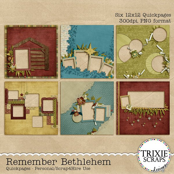 Remember Bethlehem Digital Scrapbooking Quickpages