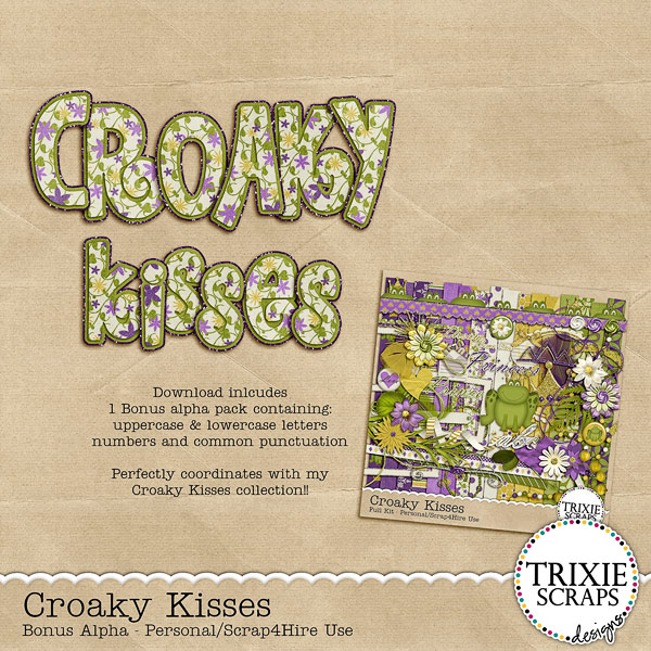 Croaky Kisses Digital Scrapbooking Bonus Alpha Disney