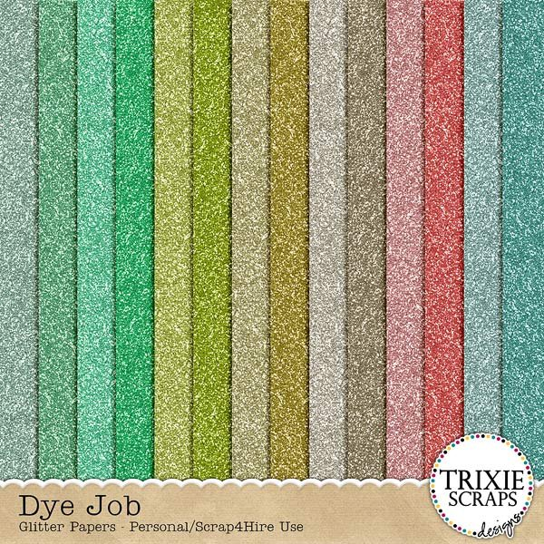 Dye Job Digital Scrapbooking Glitter Papers Easter