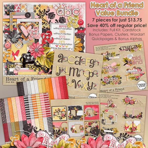 Heart of a Friend Digital Scrapbooking Value Bundle