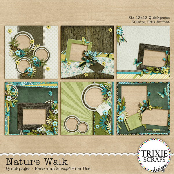 Nature Walk Digital Scrapbooking Quickpages