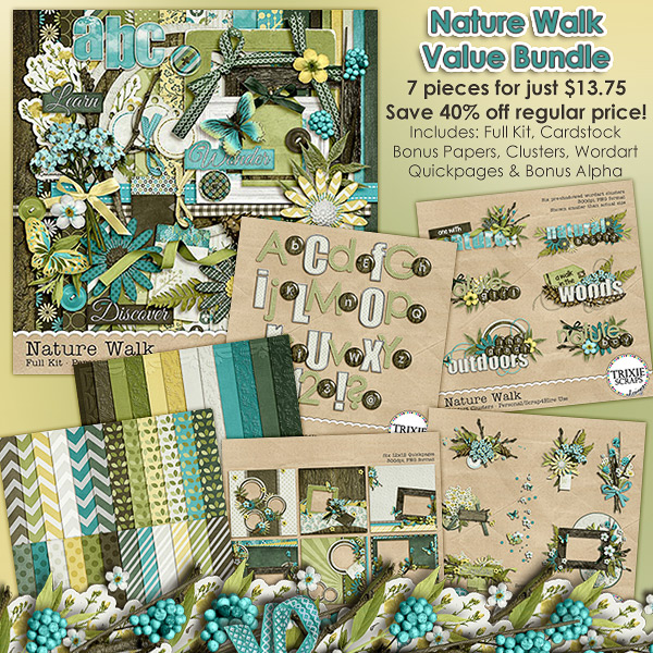 Nature Walk Digital Scrapbooking Value Bundle