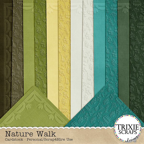 Nature Walk Digital Scrapbooking Cardstock