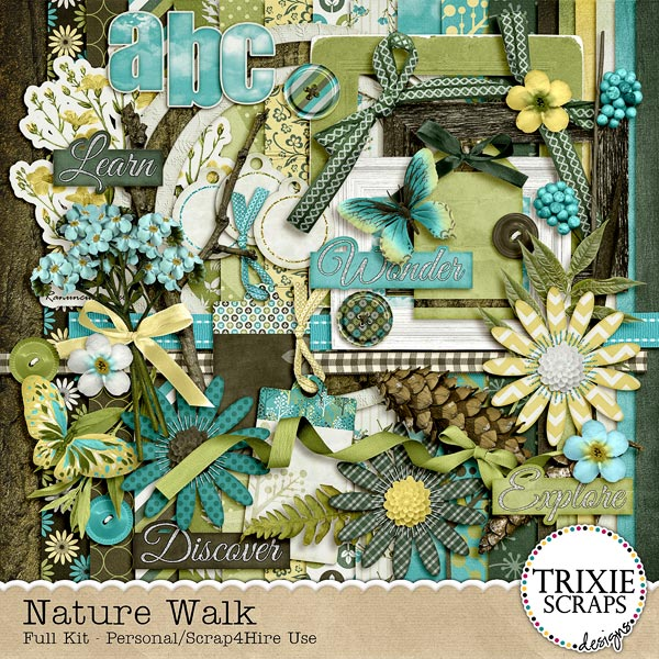 Nature Walk Digital Scrapbooking Kit