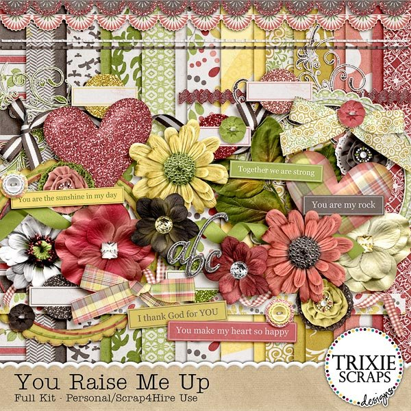 You Raise Me Up Digital Scrapbooking Kit