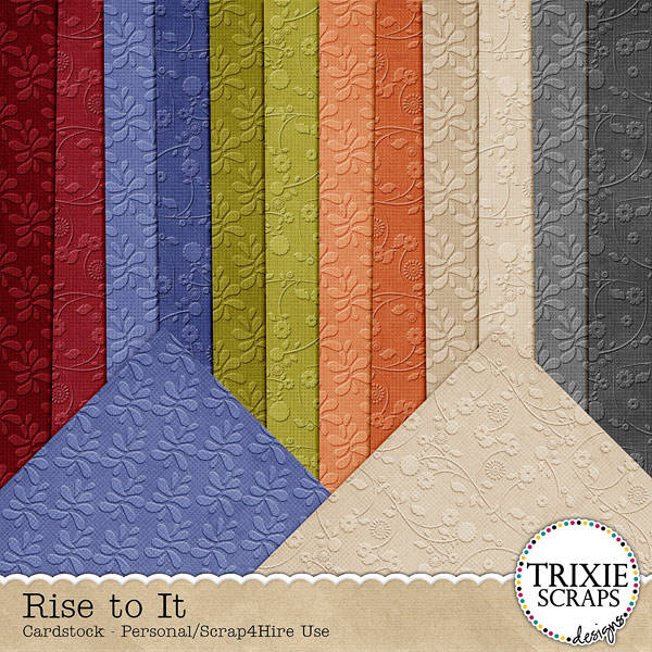 Rise to It Digital Scrapbooking Cardstock
