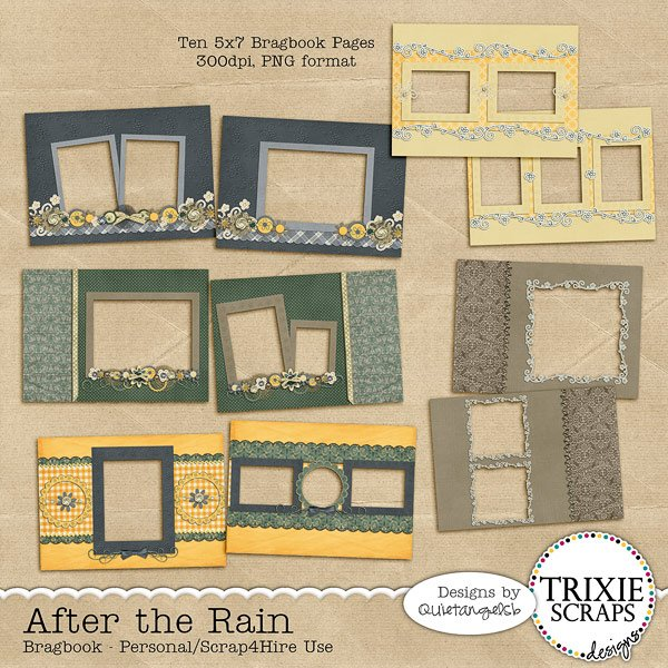 After the Rain Digital Scrapbooking Bragbook