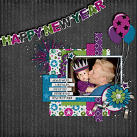 Auld Lang Syne Digital Scrapbooking Collab Kit