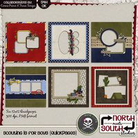 Scouting is for Boys Digital Scrapbooking Quickpages Tiger Cub Boy Scout