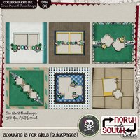 Scouting is for Girls Digital Scrapbooking Quickpages Girl Scout Brownies Cadettes