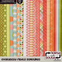 Everybody Fights Sometimes Digital Scrapbooking Collab Kit Kids Children Family