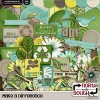 Make A Difference Digital Scrapbooking Collab Kit Earth Day Recycle