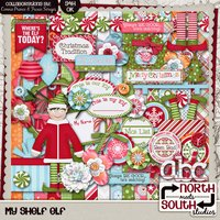 My Shelf Elf Digital Scrapbooking Collab Kit Christmas Santa Holidays