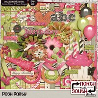 Posh Party Digital Scrapbooking Collab Kit Birthday Girls