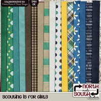 Scouting is for Girls Digital Scrapbooking Kit Girl Scout Brownie