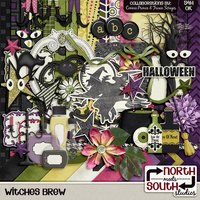 Witches Brew Digital Scrapbooking Collab Kit Halloween