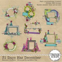31 Days Has December Digital Scrapbooking Clusters