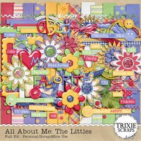 All About Me: The Littles Digital Scrapbooking Kit Children Kids