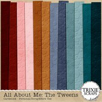All About Me: The Tweens Digital Scrapbooking Cardstock