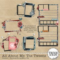 All About Me: The Tweens Digital Scrapbooking Clusters