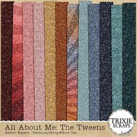 All About Me: The Tweens Digital Scrapbooking Glitter Papers