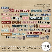 All About Me: The Tweens Digital Scrapbooking Wordart