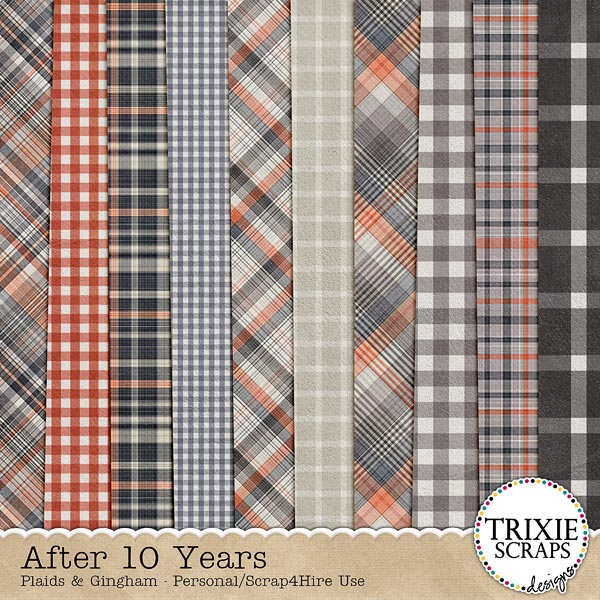 After 10 Years Digital Scrapbooking Plaid Papers