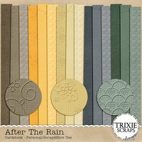 After the Rain Digital Scrapbooking Embossed Cardstock