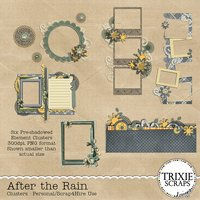 After the Rain Digital Scrapbooking Clusters