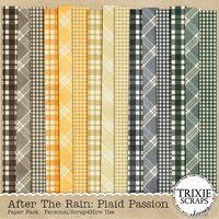 After the Rain: Plaid Passion Digital Scrapbooking Paper Pack