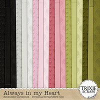 Always in my Heart Digital Scrapbooking Embossed Cardstock