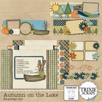 Autumn on the Lake Blogwear Set Blogger Template Theme