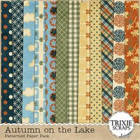 Autumn on the Lake Digital Scrapbooking Kit Fall Seasons