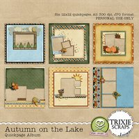 Autumn on the Lake Digital Scrapbooking Quickpages