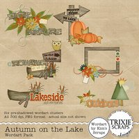 Autumn on the Lake Digital Scrapbooking Wordart