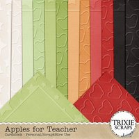 Apples for Teacher Digital Scrapbooking Embossed Cardstock