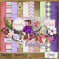 Berry Beauty Digital Scrapbooking Kit Girls