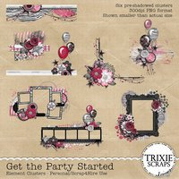 Get the Party Started Digital Scrapbooking Clusters
