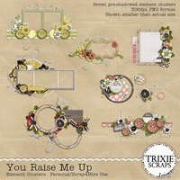 You Raise Me Up Digital Scrapbooking Element Clusters