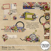 Rise to It Digital Scrapbooking Clusters