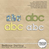 Bedtime Darling Digital Scrapbooking Alphas Pack