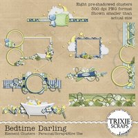 Bedtime Darling Digital Scrapbooking Element Clusters
