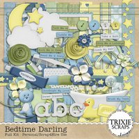 Bedtime Darling Digital Scrapbooking Kit Kid Fun