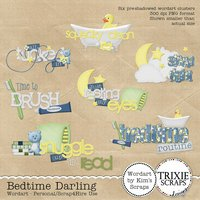 Bedtime Darling Digital Scrapbooking Wordart