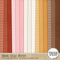 Best Guy Ever Digital Scrapbooking Embossed Cardstock